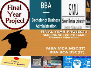 Free Download SMU BBA Final Year Project Synopsis and Report