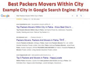 Top Packers Movers Within City