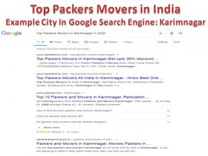 Top Packers Movers in India